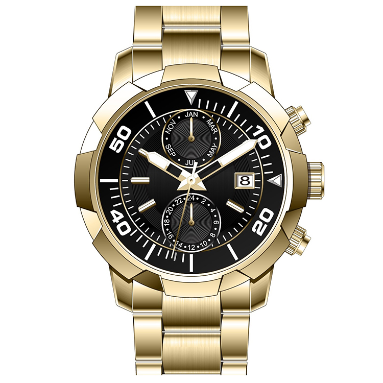 Manufacture low moq oem watch mens chronograph steel