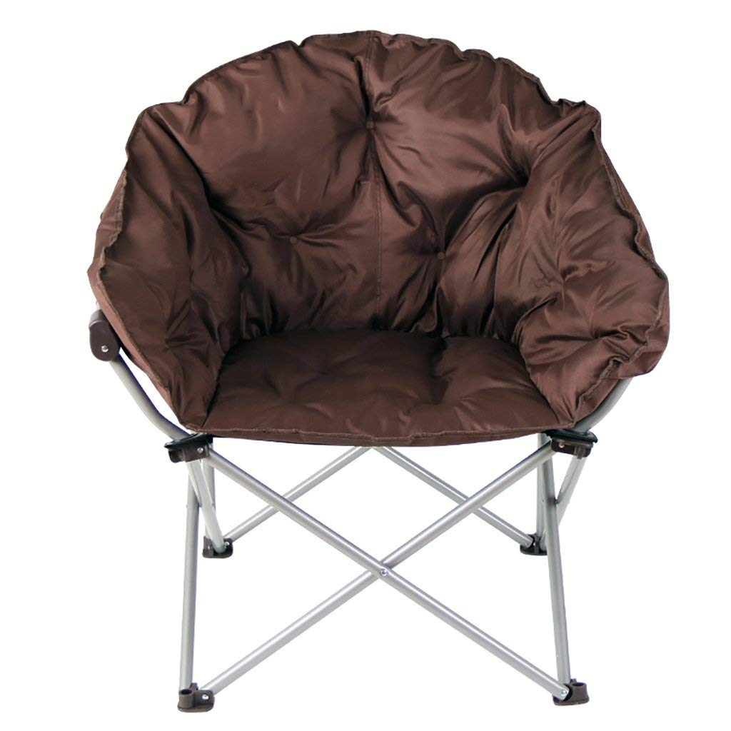 NUBAO Folding Chair Brown Chair Backrest Balcony Outdoor Elderly Leisure Chair Portable Lunch Break Siesta Recliner