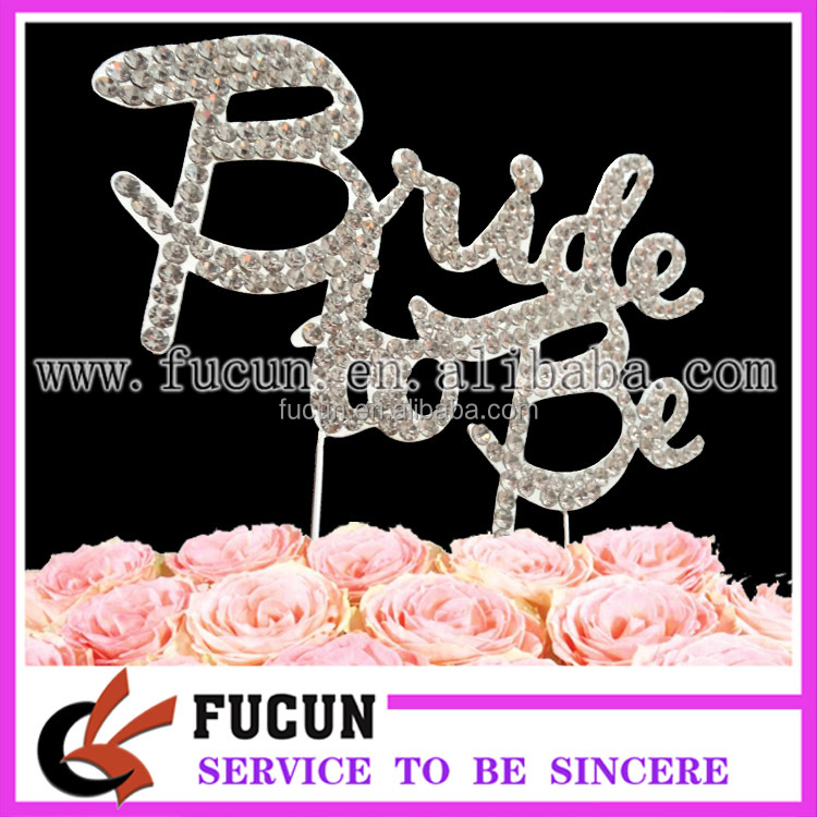 wholesale crystal wedding rhinestone cake toppers wedding decoration supplies in guangzhou