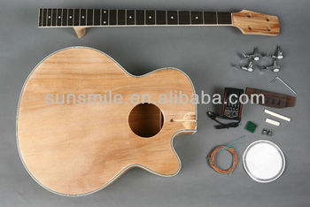 unfinished diy electric acoustic bass guitar kit gk sab 10 buy acoustic guitar kit diy. Black Bedroom Furniture Sets. Home Design Ideas