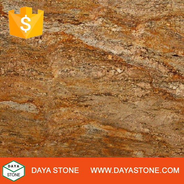 Brazil Yellow Crema Golden Granite slabs