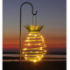 metal pineapple lawn string hanging street led solar garden light