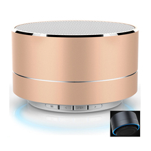 2017 Best Selling Metal FM LED Wireless Portable Mini bluetooth Speaker