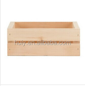 houseworks home storage crates and pallet large wood crate wooden basket box new