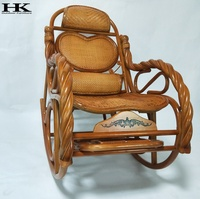 Antique Natural Rattan Rocking Chair Indoor Living Room Furniture, rattan chair, living room rocking furniture indoor