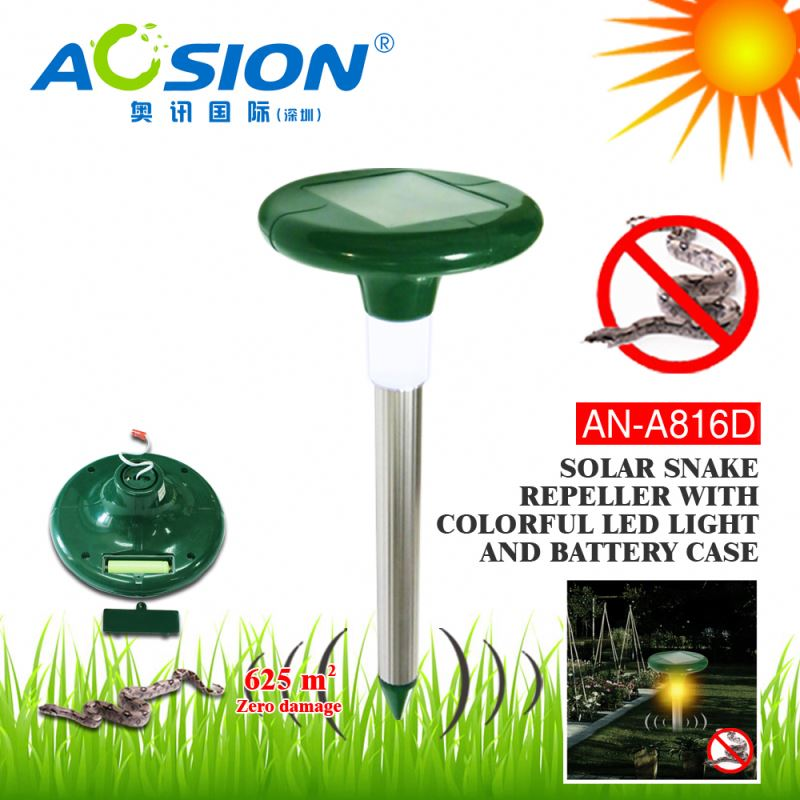 Aosion Patent High Demand Market Outdoor Garden Yard Farm snake deterrent systems with LED light