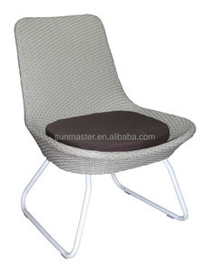 Steel plastic wicker side chair