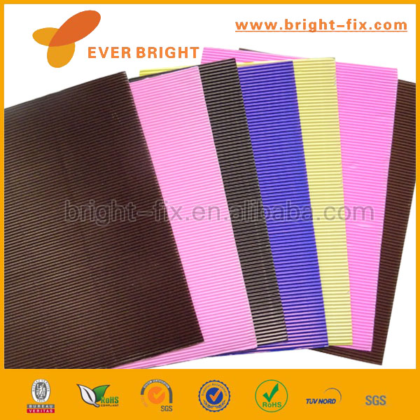 Craft Colorful Embossed Corrugated Flute Paper,DIY Corrugated Art Paper for Kids