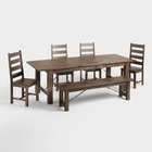 High quality expandable antique dining table set for sale