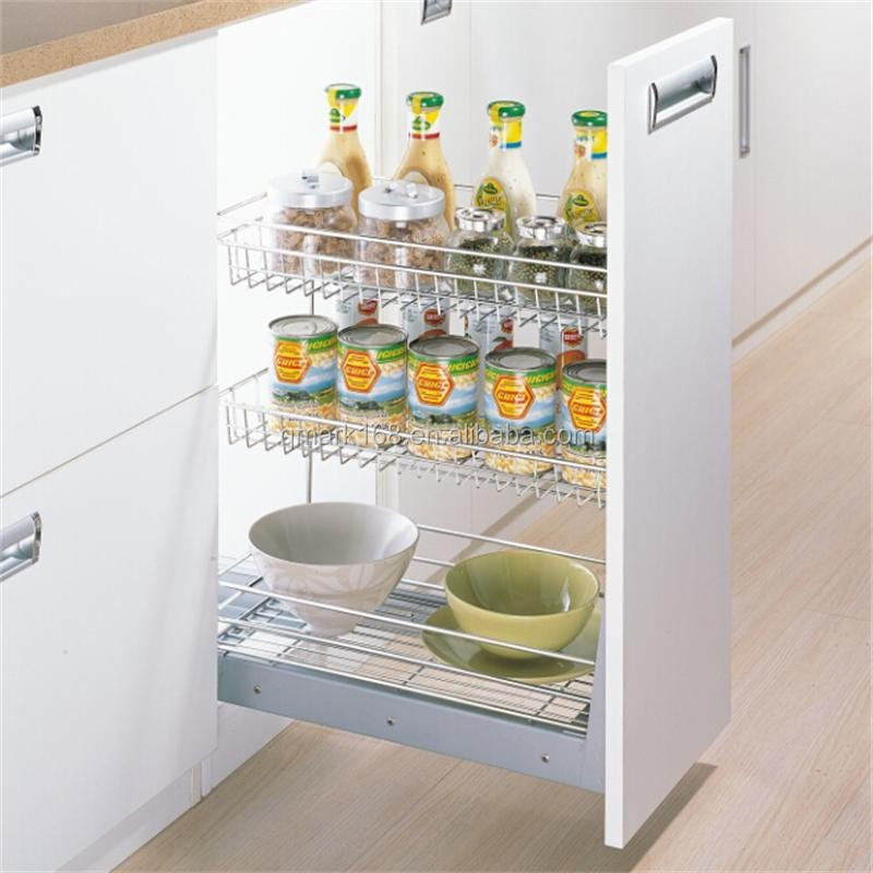 Puxe a gaveta de metal arm rio de cozinha multi funcional - Cestas para armarios ...