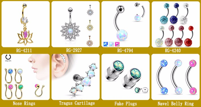 Free Sample Button Navel Body Piercing Jewelry Stainless Steel Dangle Belly Ring