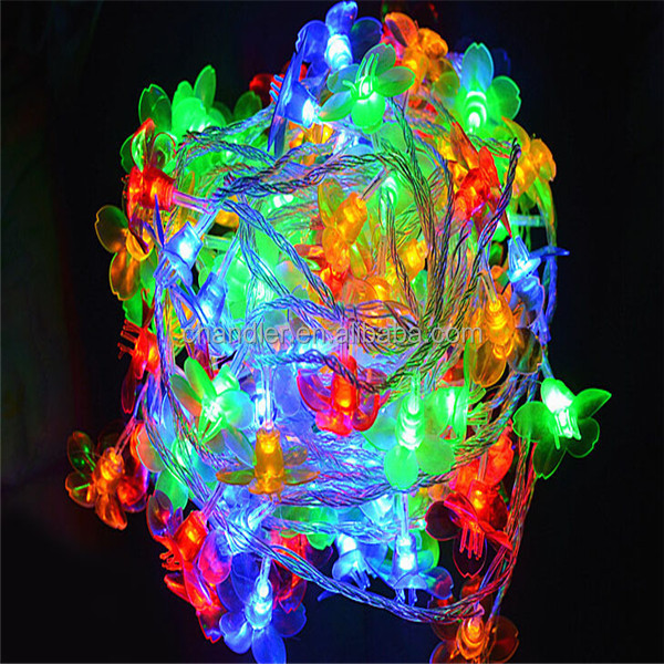 10M led string light with 100pcs flowers christmas tree light 110V /220V holiday decoration light