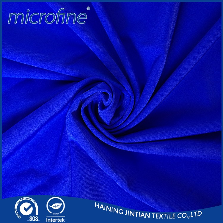 polyester spandex blend fabric use for woman trousers