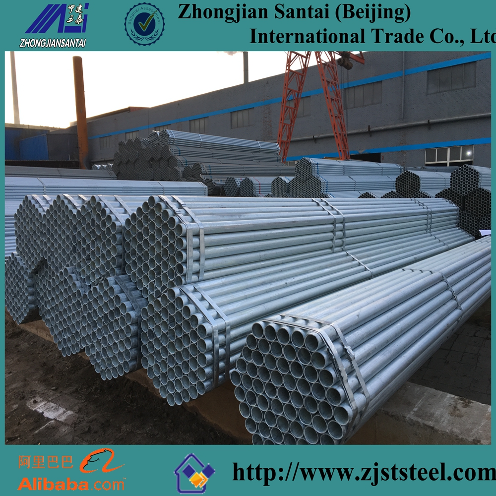 Mild Steel building galvanized steel pipe properties