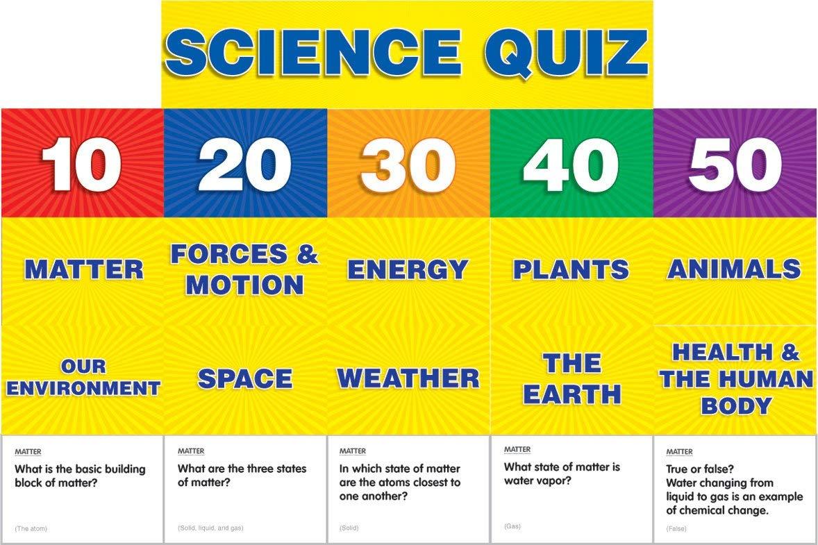 Scholastic Teacher's Friend Science Class Quiz: Grades 2-4 Pocket Chart Add-ons, Multiple Colors (TF5415)