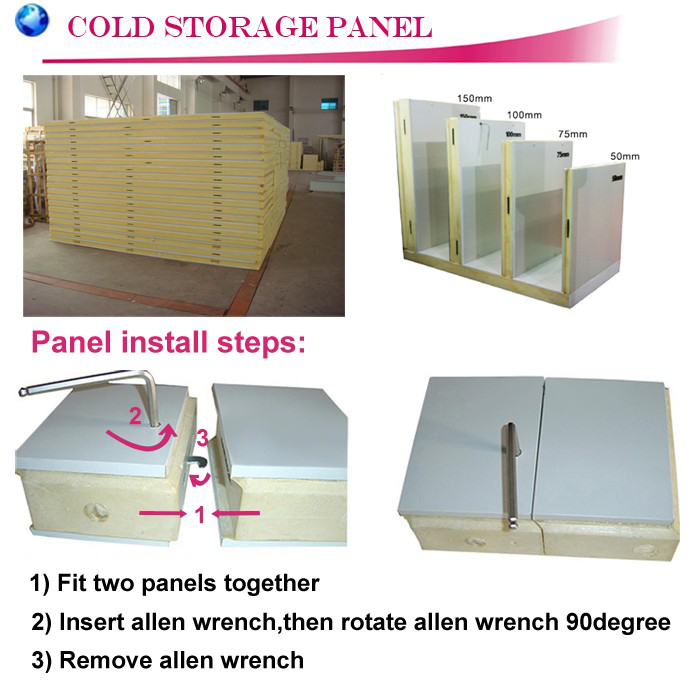 Pu Panel For Cold Room , Cold Room Panel , Cold Room Pu Polyurethane Sandwich Panel