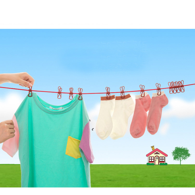 Portable clothesline for outside insect killer tube light