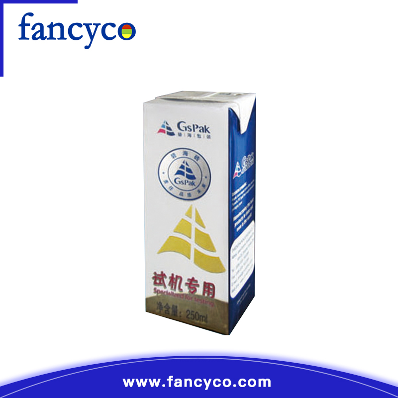 Customized hot 250ml slim aseptic packages packaging material
