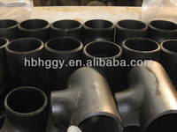 Carbon steel butt-welding pipe fittings Reducing Tee