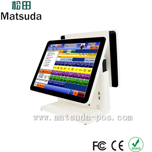 high quality 15inch capacitive touch pos system/pos computer for pizza shop/restaurant