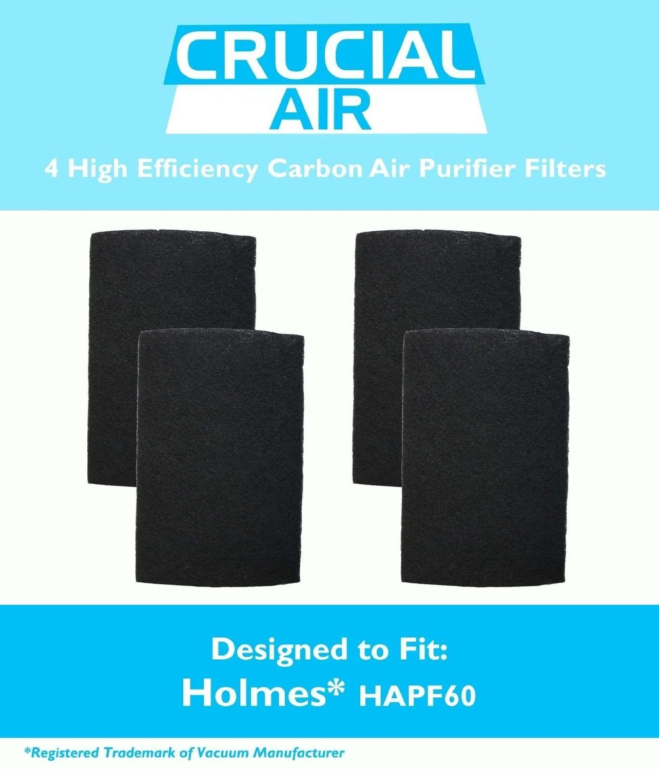 High Efficiency 4 Holmes # HAPF60 -HAPF60-U3 & HAPF60PDQ-U Air Purifier Carbon Filters Great Quality Replacement