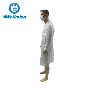 Disposable Dental Nonwoven Doctor Water Resistant Lab Coat