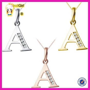 2015 Yiwu Fashion Letter A Pendant Jewelry Beautiful Ladies Suits Lace Design Alphabet