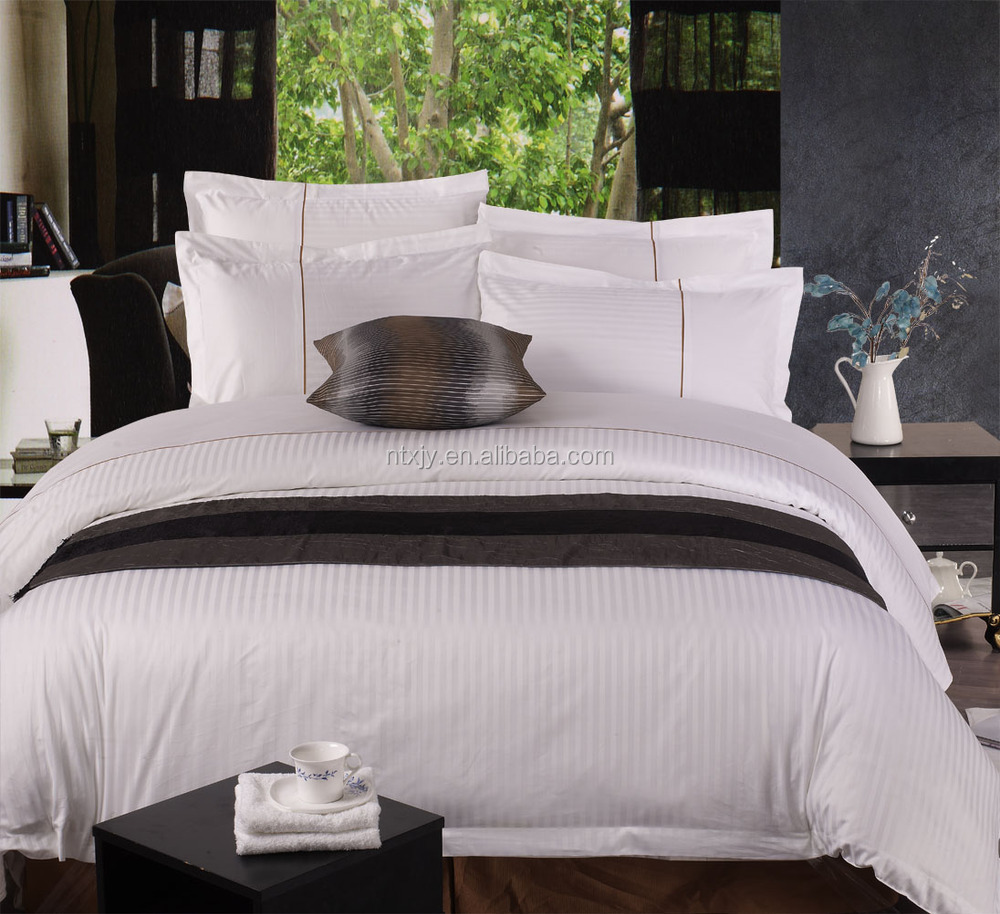 Set type bulk cotton bed sheet bed sheet gripper buy for Luxury hotel 750 collection sheets
