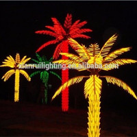Decorative outdoor hotel/home/garden gaint Christmas led artificial lighted palm tree