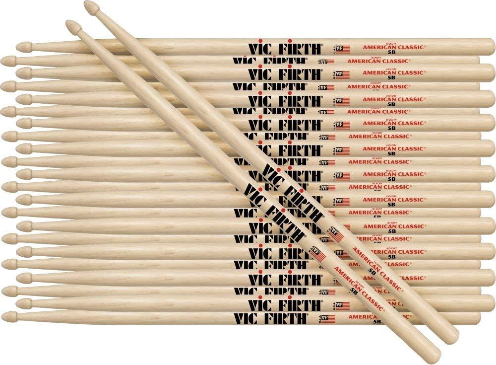 Vic Firth 12-Pair American Classic Hickory Drumsticks Nylon 5B