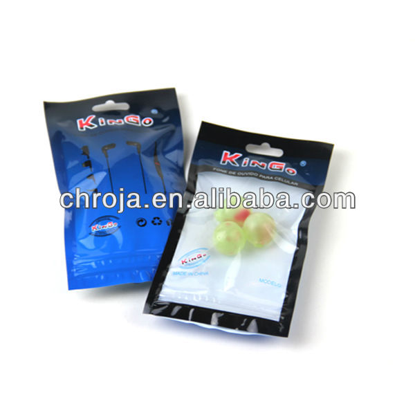 Custom Design Clear Electronic Product Packaging Bag with Zipper for Earphones