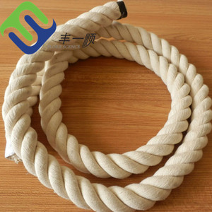 20mm twisted thick cotton rope white color hot sale in America
