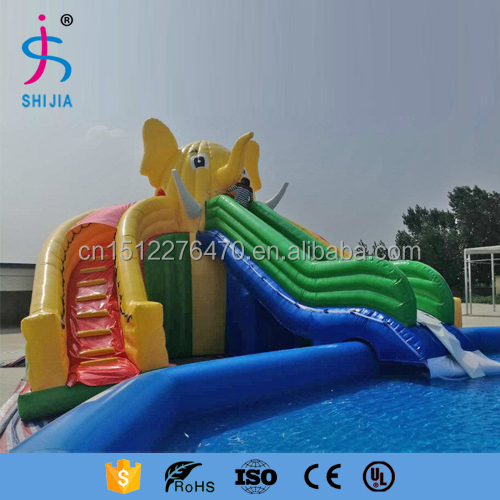 made of 18 OZ. pvc Elephant commercial inflatable water slide