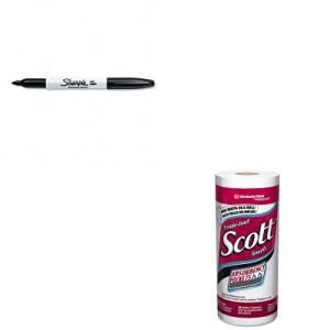 KITKIM41482SAN30001 - Value Kit - SCOTT 41482 Kitchen Roll Paper Towels (KIM41482) and Sharpie Permanent Marker (SAN30001)