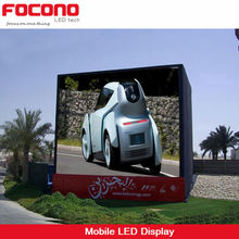 CE Rohs ETL P10 Scooter Truck Video Outdoor Mobile Screen Advertising Vehicle LED Board