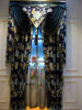 Noble Luxury Design Embroidery Ready Made Curtain with Valance and Sheer Set