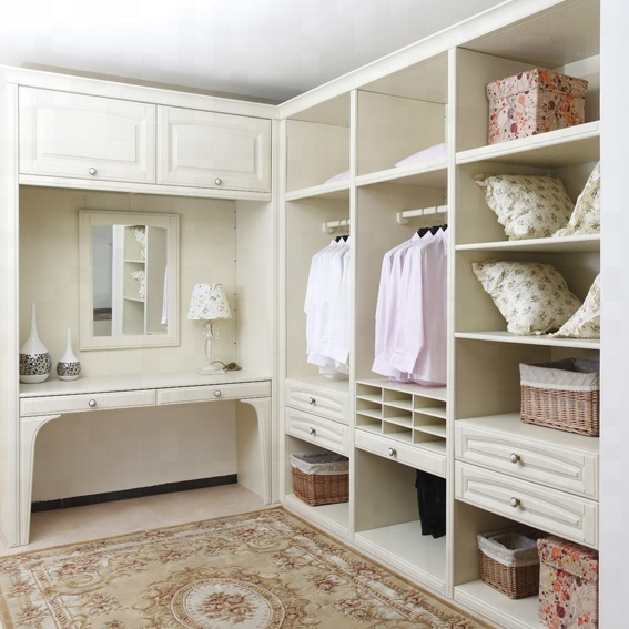 Modern Design Bedroom Wood Open White Walk In Closet Wardrobe Product On Alibaba