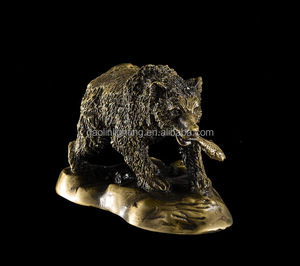 Halloween Brass bear statue for home desk decoration
