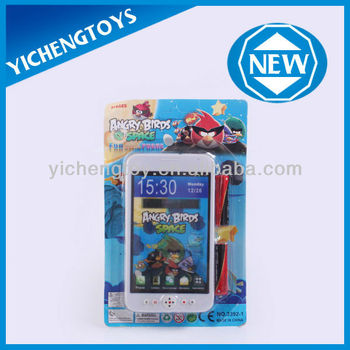 plastic mobile phone toy for kids touch screen phone toy