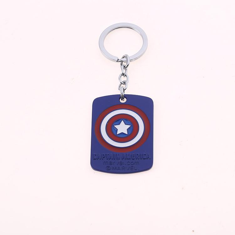 Personalised Superhero Captain America inspired keyring bag tag