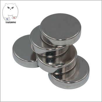 Powerful 1/8 Inch Thick 1.3 Inch Diameter N42 Rare Earth Neodymium Disc Magnets with Nickel Coated