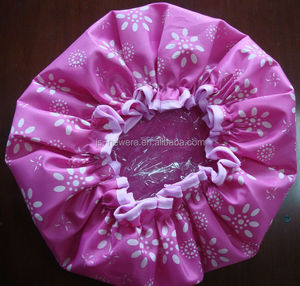 Cheap disposable personalized christmas shower cap