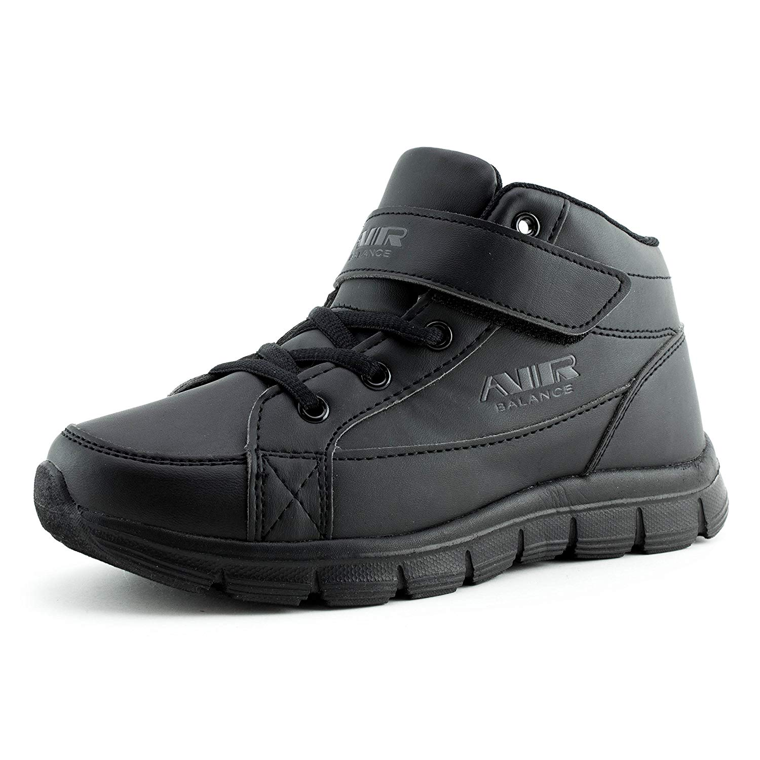 16a4b7a6291 Get Quotations · Air Balance Unisex Solid Color Hook and Loop Fastner  Walking Shoes Sneakers (Toddler Little