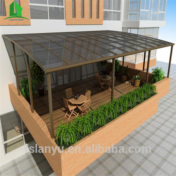 Transparent Poly Carbonate Polycarbonate Sheet Patio Terrace Awning