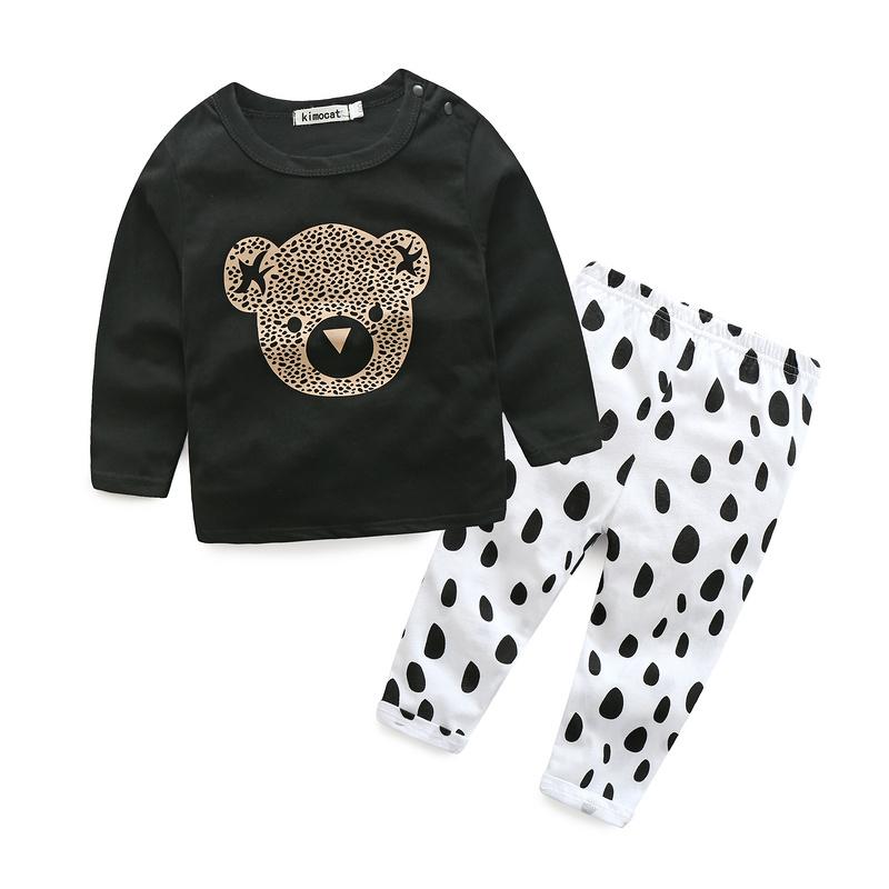 98dbf4b6b Diseño de Moda Ropa de primavera niño ropa de bebé establece Boy algodón  dibujos animados impreso