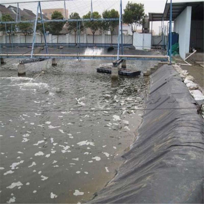 Black UV resistant 0.8mm fish pond liner HDPE geomembrane for wholesale