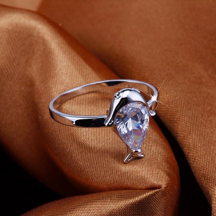 fantstico tiburn diseo oro blanco circn anillo de compromiso joyera