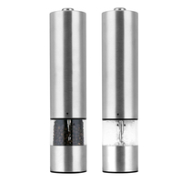 2019 automatic stainless steel electric salt and pepper grinder mill set