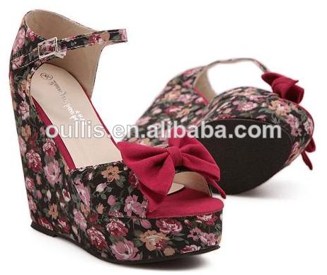 f330d296cf hermosa zapatos para niñas de cuña sandalia de tacón pc2881 ...