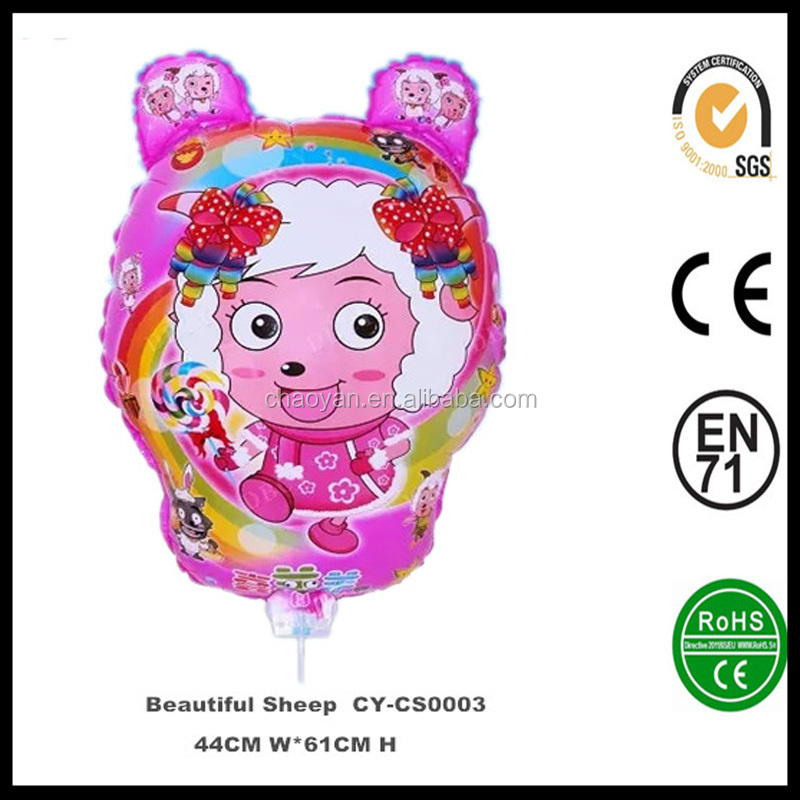 Inflatable DBCY Clip Stick Beautiful Sheep Foil Balloon,Stick Foil Balloon